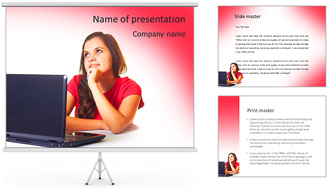 Laptop PowerPoint Template