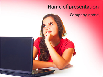 Laptop PowerPoint Template - Slide 1
