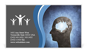 Hole In Head Business Card Template
