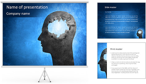 Hole In Head PowerPoint Template