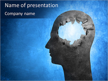 Hole In Head PowerPoint Template - Slide 1