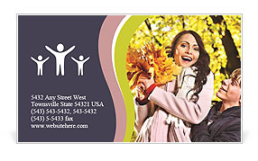 Autumn Season Business Card Template
