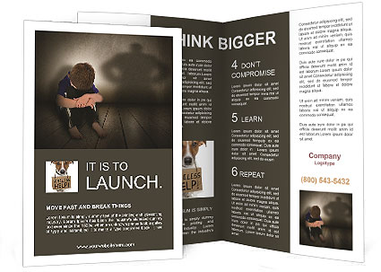 Lonely Child Brochure Template