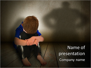 Lonely Child PowerPoint Template - Slide 1