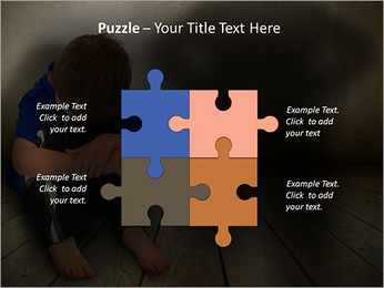 Lonely Child PowerPoint Template - Slide 23