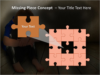 Lonely Child PowerPoint Template - Slide 25