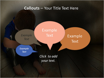 Lonely Child PowerPoint Templates - Slide 53