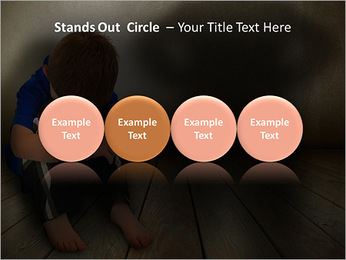 Lonely Child PowerPoint Templates - Slide 56