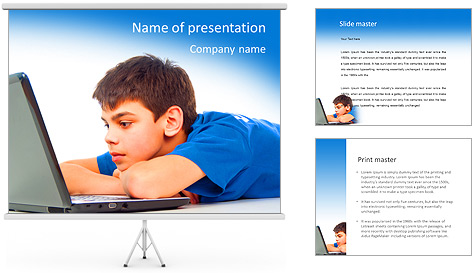 Movie On-Line PowerPoint Template