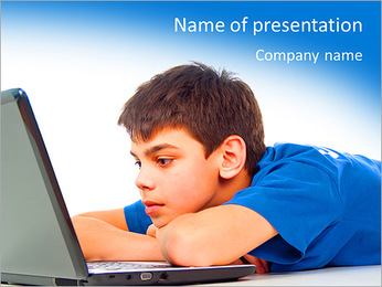 Movie On-Line PowerPoint Template - Slide 1