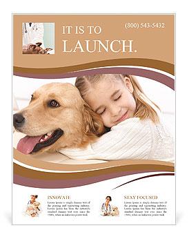 Girl Hugs Labrador Flyer Template