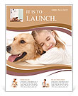 Girl Hugs Labrador Flyer Template