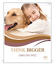 Girl Hugs Labrador Poster Template