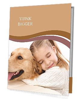 Girl Hugs Labrador Presentation Folder