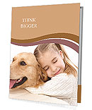 Girl Hugs Labrador Presentation Folder