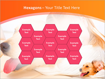 Girl Hugs Labrador PowerPoint Template - Slide 24