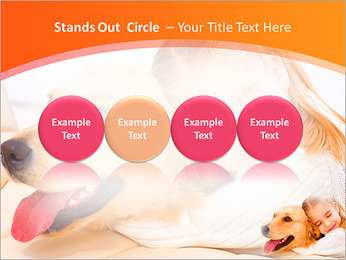 Girl Hugs Labrador PowerPoint Template - Slide 56