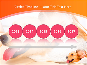 Girl Hugs Labrador PowerPoint Template - Slide 9
