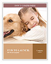 Girl Hugs Labrador Word Template