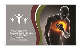 Pain In Chest Business Card Template