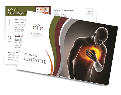 Pain In Chest Postcard Template