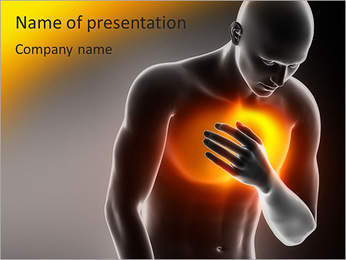 Pain In Chest PowerPoint Template - Slide 1