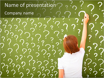 Question On Board PowerPoint Template