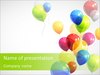Balloon PowerPoint Template - Slide 1