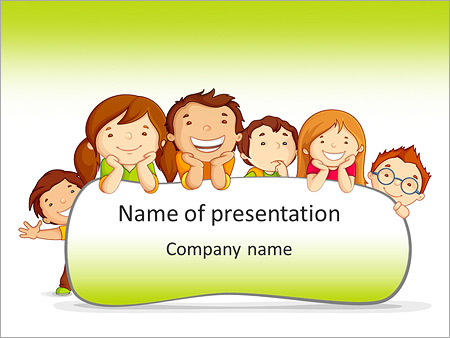 cartoon for kids powerpoint template backgrounds google slides