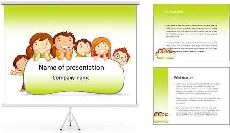 Cartoon For Kids PowerPoint Template