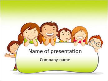 Cartoon For Kids PowerPoint Template - Slide 1