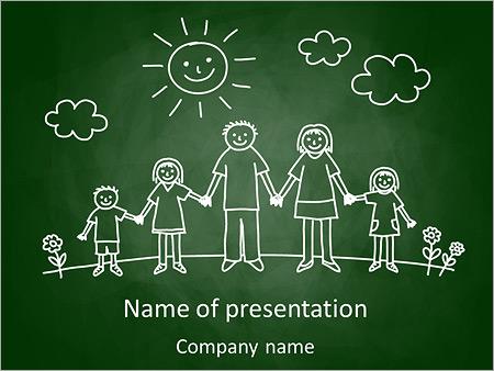 Dibujo Familia Plantillas de Presentaciones PowerPoint