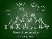 Family Drawing PowerPoint Template