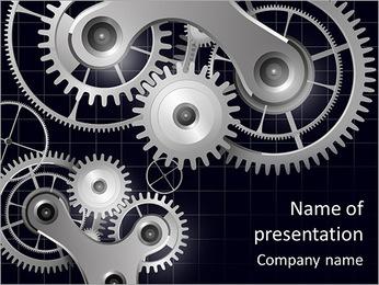 Machine Mechanism PowerPoint Templates - Slide 1