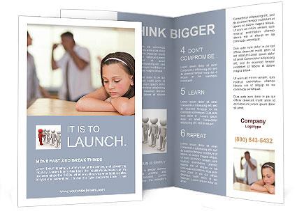 Parents Quarreling Brochure Template