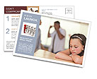 Parents Quarreling Postcard Template