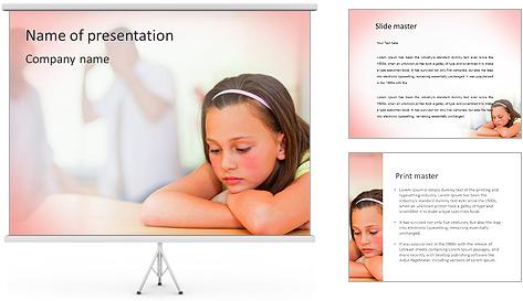 Parents Quarreling PowerPoint Template