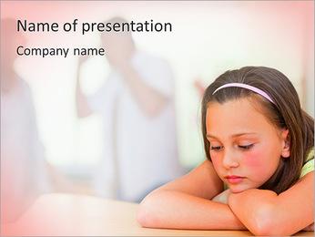Parents Quarreling PowerPoint Template - Slide 1