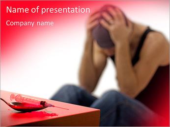 Drug Addict PowerPoint Template - Slide 1