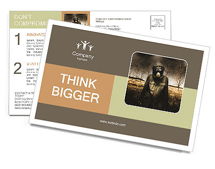 Ecology In Danger Postcard Template