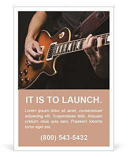 Play Guitar Ad Template