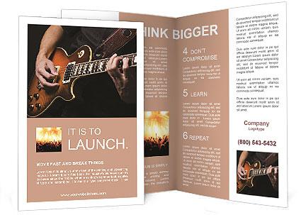 Play Guitar Brochure Template