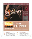 Play Guitar Flyer Templates