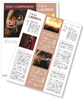Play Guitar Newsletter Templates