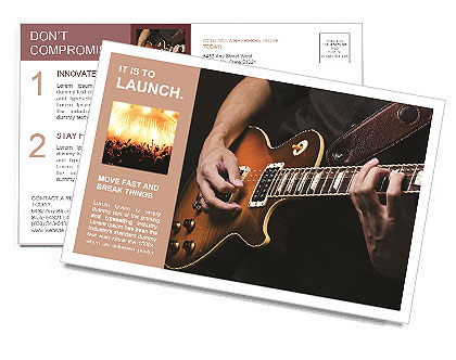 Play Guitar Postcard Template
