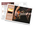 Play Guitar Postcard Templates