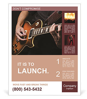 Play Guitar Poster Template