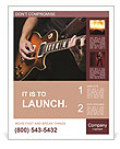 Play Guitar Poster Template