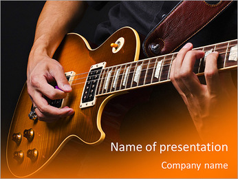 Play Guitar PowerPoint Template - Slide 1