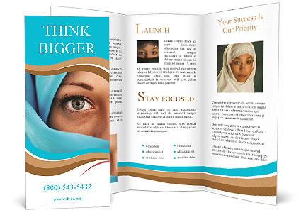 Muslim Lady Brochure Template